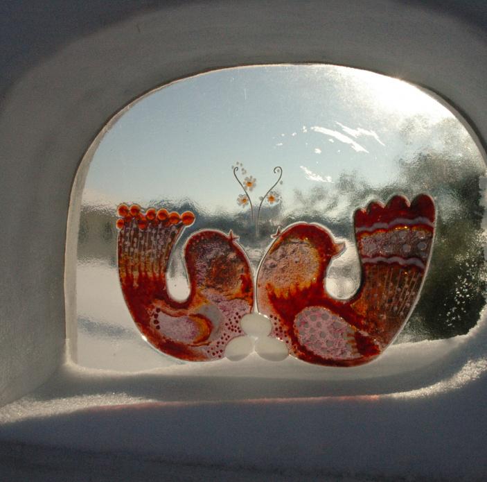 Skleněné dekorativní okénko