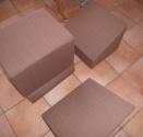 Skládací stolky, opěrky a sedáky
