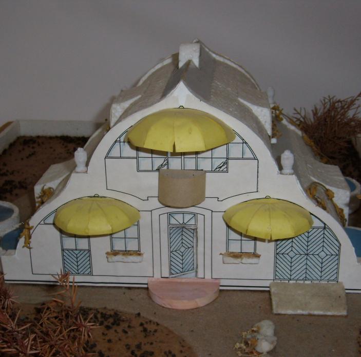 Bezpečný dům krytý klenbou